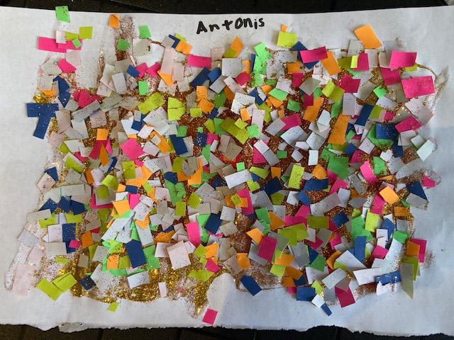 Confetti Collage by Antonis, aged 9